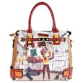 Nicole Lee 'Kayla' Blocked Fashionista Print Tote