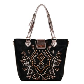 Nicole Lee 'Claudette' Studded Motif Tote Bag