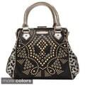 Nicole Lee 'Claudette' Studded Motif Doctor Bag