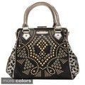 Nicole Lee 'Claudette' Studded Motif Doctor Bag