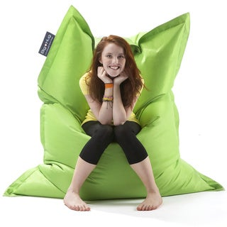 Strapping Big Hug Eco-friendly Apple Green Indoor/ Outdoor Bean Bag Chair
