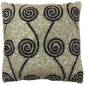 Celebration Swirl Beaded Decorative Pillow