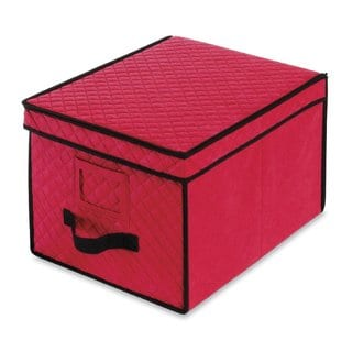 Whitmor Red Christmas Light Storage Box