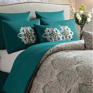 'Radcliff' Jacquard Damask Print 8-piece Comforter Set