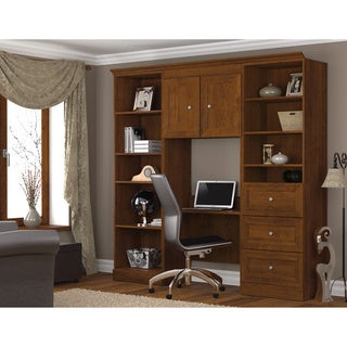 Bestar Tuscany Brown 3-piece Wall Unit