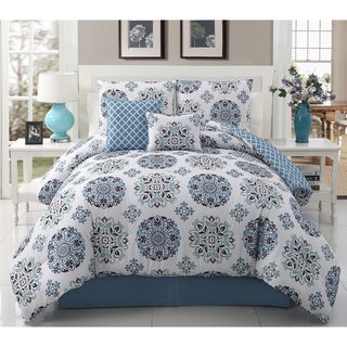'Marisol' Diamond Medallion Print 5-piece Comforter Set