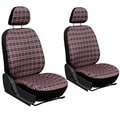 Exquisite Plaid Checkered Bucket Seat Cover 2-piece Set
