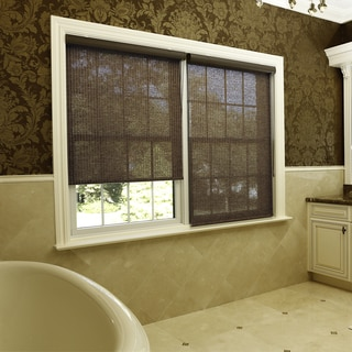 Aurora Home Chocolate Premium Single Roller Window Shade