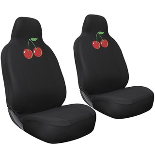 Oxgord Wild Red Cherry 2-piece Integrated Bucket Seat Cover Set for High Back Sport Seats