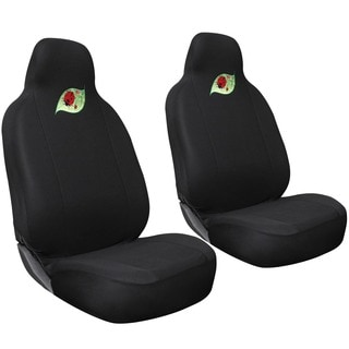 Cute Green Leaf with Red Ladybug Car Seat Cover 2-piece Set