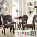 INSPIRE Q Concord 5-piece Black Nickel Plated Round Back Dining Set