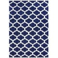 Handmade Alliyah Navy Blue New Zealand Blended Wool Rug (8' x 10')