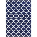 Handmade Alliyah Navy Blue New Zealand Blended Wool Rug (5' x 8')