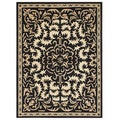 Handmade Alliyah Black Medallion New Zealand Blend Wool Rug (9 'x 12')