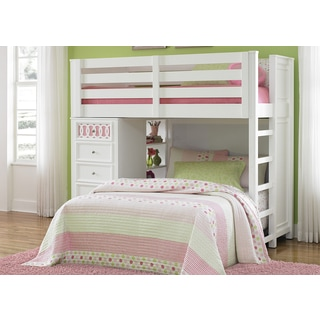Youth White/ Color Panels Loft Bunkbed