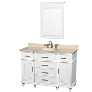Berkeley White 48-inch Single Vanity