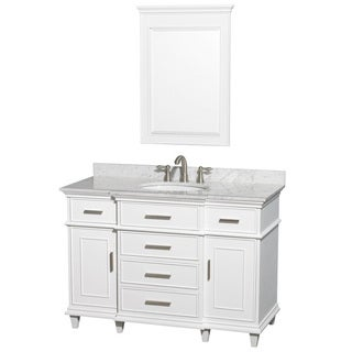 Berkeley White 48-inch Single Birch Vanity
