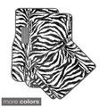 Oxgord Wild Tiger/ Zebra Colorful 4-piece Universal Carpet Floor Mats Set