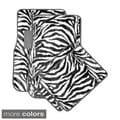 Wild Tiger/ Zebra Colorful 4-piece Universal Carpet Floor Mats Set