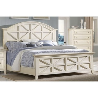 Greyson Living Courtney Cottage White Contemporary Panel Bed