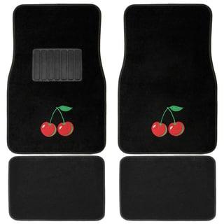 Oxgord Wild Cherries Carpet Floor Mats (Set of 4)