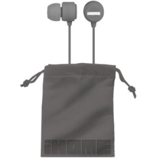 iHome Rubberized Noise Isolating Earphones with Pouch