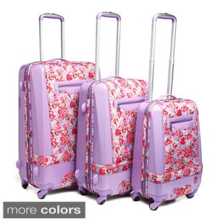 Heys USA Crazy Hearts 3-piece Hybrid Spinner Luggage Set