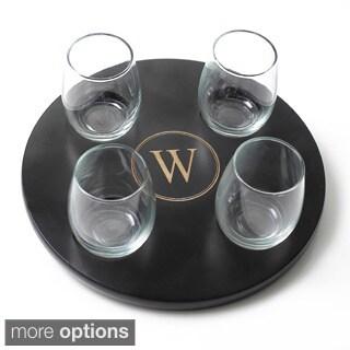 Round Wine Flight Sampler with 4-piece Glass Set
