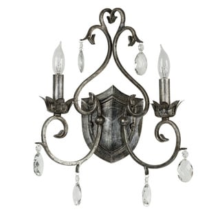 Elie Antique Silvertone 2-light Sconce