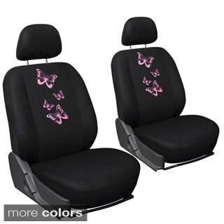 Oxgord Sparkling Butterflies 6-piece Seat Cover Set