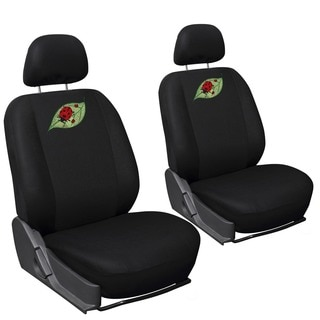 Cute Green Leaf/ Red Ladybug 6-piece Seat Cover Set