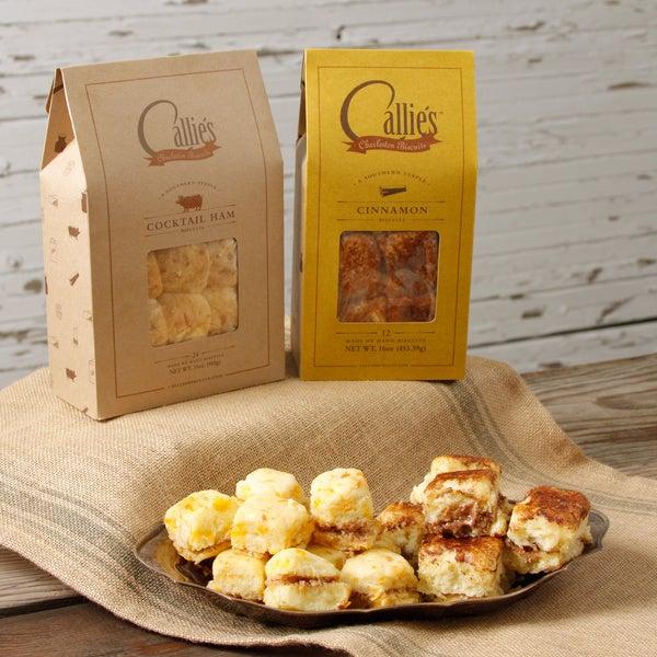 Callie's Cocktail Ham Biscuits and Cinnamon Biscuits Bundle