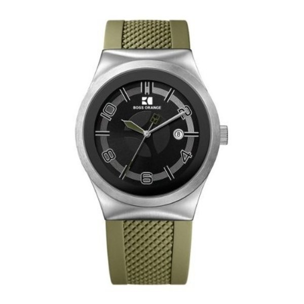 Hugo Boss Men's Brown Rubber Strap Watch