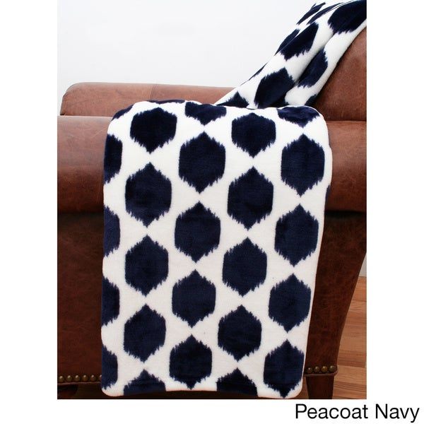 Isabella Ikat Fleece Throw (50 inches x 60 inches)