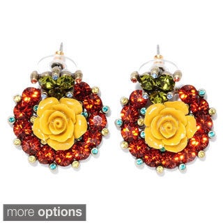 Sweet Romance Rose Collar Earrings
