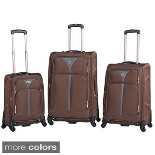 National Traveler Excursion 3-piece Expandable Spinner Upright Luggage Set