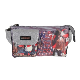 Nicole Lee Cowgirl Flag Print Adjustable Waist Pack