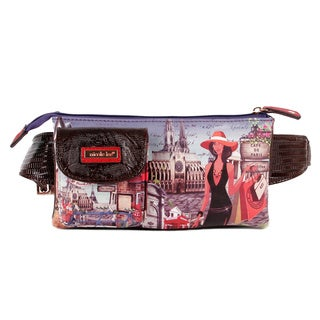 Nicole Lee Exclusive Bicycle Print Adjustable Waist Pack