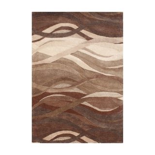 Alliyah Handmade Tobacco Brown New Zealand Blend Wool Rug (9 x 12)