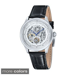 Earnshaw Men's Academy Skeleton Leather Watch