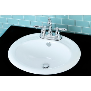 Surface Mount Bathroom Sink and Victorian Chrome Faucet Set