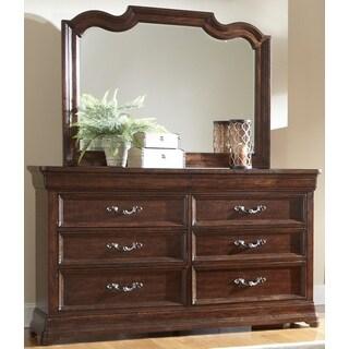 Senator 8-drawer Dark Brown Dresser and Optional Mirror