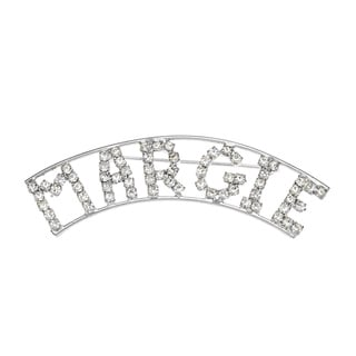Detti Originals SilverPind 'MARGIE' Crystal Name Pin