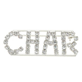 Detti Originals Silver 'CHAR' Crystal Name Pin