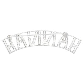 Detti Originals SilverPind 'HANNAH' Crystal Name Pin