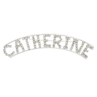 Detti Originals Silver 'CATHERINE' Crystal Name Pin