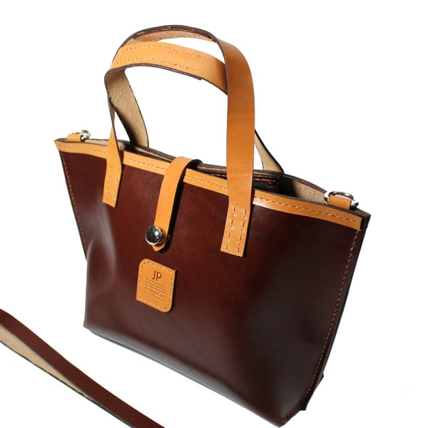 Hand-stitched Fine Brown/ London Tan English Bridle Leather Tote