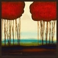 Glen Allen 'Red Duo 1' Framed Art
