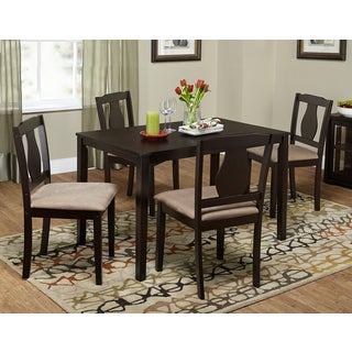 Simple Living Kaylee Espresso/ Brown 5-piece Dining Set