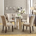 Inspire Q Kona Chevron/ Chrome 5-piece Dining Set
